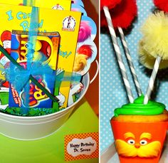 Party favors & Lorax cupcakes