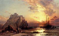 James Webb (1825-1895) - Unloading The Catch
