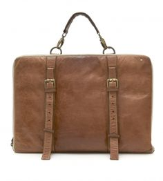 Leather laptop satchel: for my man