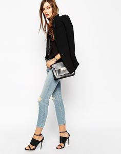 J Brand Cropped Skinny Jeans With All Over Ripped Distressing