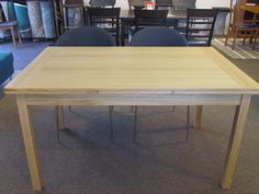 Oak dining table w/ extending leaves.  Was $899 Now $799