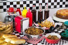 #TescoParty - American Retro Party - dekoracja stołu - table decoration