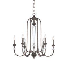 585 Jeremiah by Craftmade Boulevard 6 Light Chandelier in Mocha Bronze 26726-MB #lightingnewyork #lny #lighting