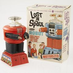 Lost in Space (1965-68, CBS) — 1966 Remco Motorized Robot Warning Will Robinson!!!