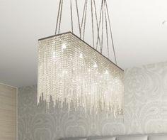 """Amazon.com : Modern Chandelier """"Rain Drop"""" Crystal Chandeliers Lighting! : Linear Chandelier : Lamps & Light Fixtures"""