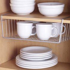 Undershelf Basket ideas to maximise your kitchen storage space. #small_kitchen #organized