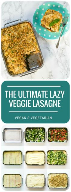 No-chopping, no-saucepans - just bung the frozen ingredients in the microwave, layer them up, and pop in the oven! The most easy-peasy but totally delicious lasagne ever. Vegan & vegetarian.