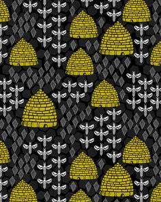 Honey Bees & Hives by Andrea Lauren Design