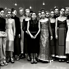 1972projects:    1997: Miuccia Prada with her models, backstage at the Prada show, by Filippo Fortis