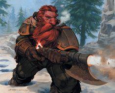 My new invention - axegun #dwarf #rpg #d&d