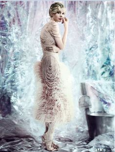 Carey Mulligan as Daisy Buchanan in Gatsby-inspired shoot for Vogue's May 2013 cover.