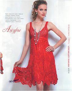 Zélia Crochet: Vestido vermelho