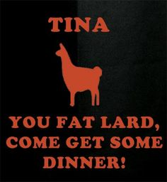 Napolean Dynamite talking to his llama, Tina. #NapoleanDynamite #llamas #moviequotes