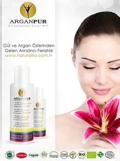 Gül ve Argan Özleri Güçlerini Arganpur Organik Yüz Toniğinde birleştirdi.  Bio-Gül ferahlatıcı tonik, cildinize dengeli bir canlılık ve mükemmel bir ferahlık verir. Bio-Gül, cildinizi bir sonraki bakım ürünü için en uygun şekilde hazır hale getirir ve cildinizi arındırır.