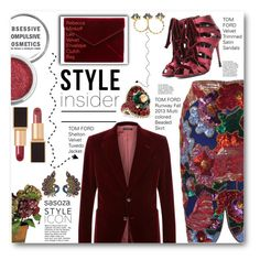 """""""style insider by Sasoza"""" by sasooza ❤ liked on Polyvore featuring Tom Ford, Obsessive Compulsive Cosmetics, Rebecca Minkoff and Gucci"""