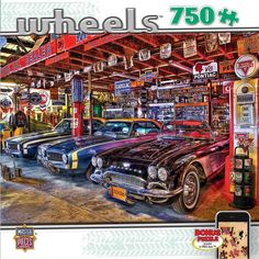 NEW Jigsaw Puzzle 750 Piece Masterpieces WHEELS STAR STUDDED Classic Cars #MasterPieces