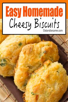Impress your friends with these White Cheddar Biscuits. Light and crisp exterior with plenty of cheesy flavor and a hint of sweet from the cornmeal. Spicy chipotle peppers green onions seal the deal for the ultimate biscuit experience! #biscuits #easybiscuits #southernbiscuits #homemadebiscuits at OatandSesame.com #oatandsesame Savoury Biscuits, Cheddar Biscuits, Cheese Biscuits, Homemade Biscuits, Homemade Cheese, Homemade Dinner Rolls, Dinner Rolls Recipe, Brunch Recipes, Bread Recipes