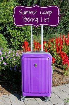 Summer Camp Packing List makobiscribe.com Spinner Rolling Luggage bag giveaway