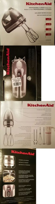 Kitchenaid Khm9pwh kitchenaid khm9pwh 9-speed professional hand mixer, white