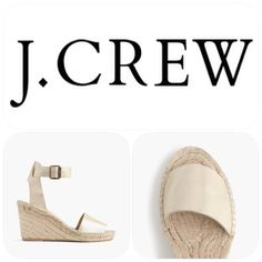 Flash Sale NIB Suede Espadrilles Wedges 10 Brand new in box from JCrew! Size 10 medium. Corsica metallic suede espadrille wedges. Retail $128. Non smoking home! J. Crew Shoes Wedges