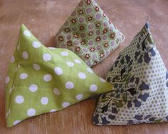 triangular bean bags #tutorial