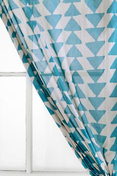 Magical Thinking Triangle Chain Curtain  #UrbanOutfitters    These would be cute in a living room to my son's room