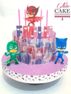 Pj Mask girl Baby Cake, wafer paper