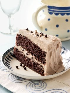 Gianna's Chocolate Whipped Cream Cake - CountryLiving.com| Good frosting, I used it to fill meringe nests