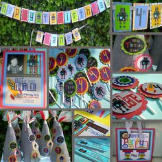 Robot Birthday Party Decorations Package  by LePoppyDesign on Etsy, $154.00