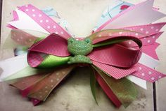Froggy Bowtique Bow by HodgePodgeBowtique on Etsy, $10.00