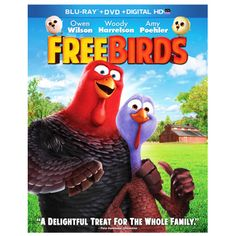 From the Academy Award-Winning producer of Shrek comes a hilarious animated adventure about two turkeys from opposite sides of the tracks who travel back in time in order to keep their species off the Thanksgiving menu. Featuring an all-star voice cast, including Owen Wilson, Woody Harrelson and Amy Poehler, Free Birds is loaded with laughs and stuffed with fun for the whole family!.