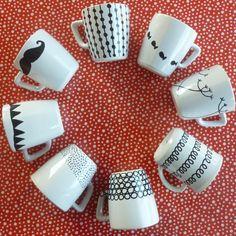 DIY mugs porcelain pen