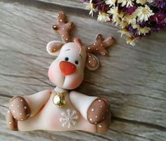 christmas  reindeer, polymer clay                                                                                                                                                                                 More                                                                                                                                                                                 More