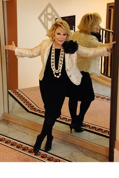 Joan Rivers: A Life in Stylish Pictures ~ We will miss you Joan Rivers, RIP.