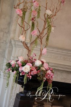 Pink wedding flowers at Graydon Hall Toronto