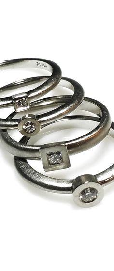 Form 17  -  Platinum Pure. Rare. Eternal. Platinum rings with Diamond