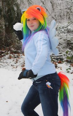 My Little Pony Friendship is Magic Rainbow Dash Cosplay TAIL