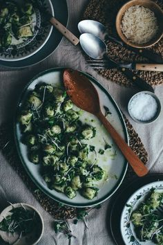 Easy Potato Gnocchi Recipe with Arugula-Pumpkin Seed Pesto