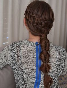 Chestnut Brown Luxy Hair Extensions in a Oh-So-Pretty double waterfall + bubble braid by the super lovely and talented girls behind www.instabraid.com | Photo credit: https://instagram.com/p/zp3Hk1ozok/?modal=true