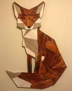 DIY Geometric Pallet Wood Fox - Imgur #woodworkingprojectsthatsell