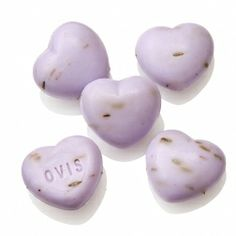 eManufaktúra: Levendula Miniszív Szappan Soaps, Garlic, Stud Earrings, Vegetables, Food, Hand Soaps, Stud Earring, Essen, Vegetable Recipes