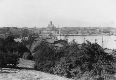 A view of Helsingfors (Helsinki). Note the tower of St. Nicolas Church in the distance.