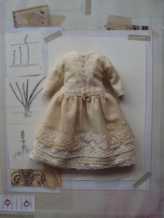 Collection robe nostalgique - crème