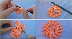 flores en crochet paso a paso diferentes aros