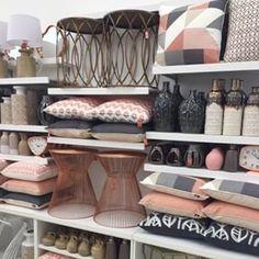 blush grey and copper coloured furniture - Google Search...