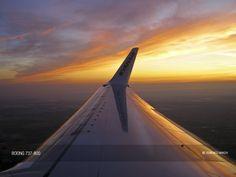 Ryanair Boeing 737-8AS winglet in Bologna sunrise