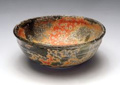 Susan Cohen    Alexandria VA   Shino Bowl   3x7x7   Porcelain, ^10 gas-fired reduction
