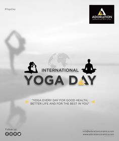 """The body benefits from movement, and the mind benefits from stillness"". Ads Creative, Creative Posters, Creative Director, Creative Instagram Stories, Instagram Story, Happy International Yoga Day, Perspective Photography, New Poster, Instagram Highlight Icons"