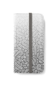 Gradient black and white swirls doodles iPhone Wallet by @savousepate on @redbubble #iphonewallet #phonewallet #zentangle #doodles #abstract #modern #graphic #geometric #ombre #gradient #grey #gray #black #blackandwhite