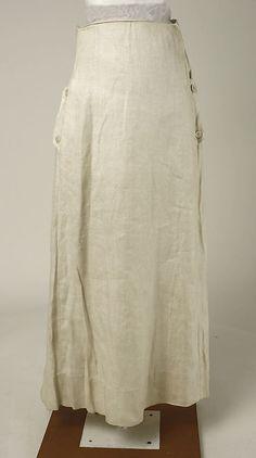 Skirt c.1915-1918 linen